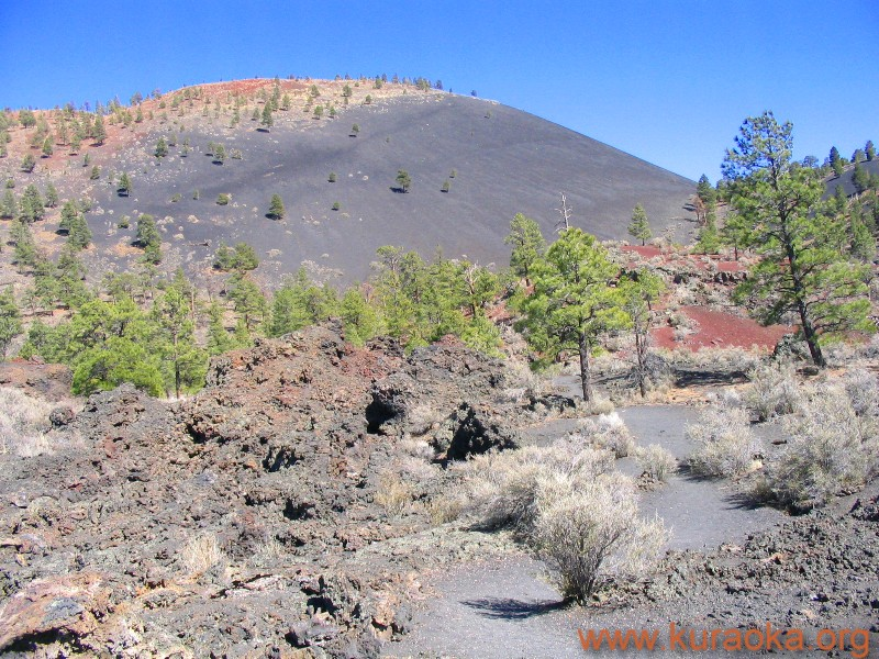 Sunset Crater from the Lava Flow Trail