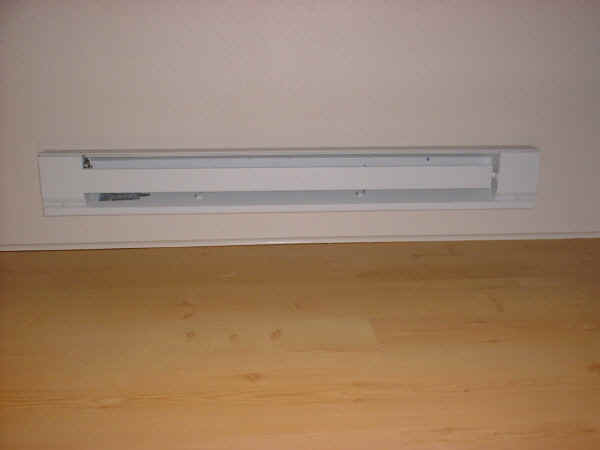 Room addition, 10-16: This photo shows the resistance-style electric strip heater.