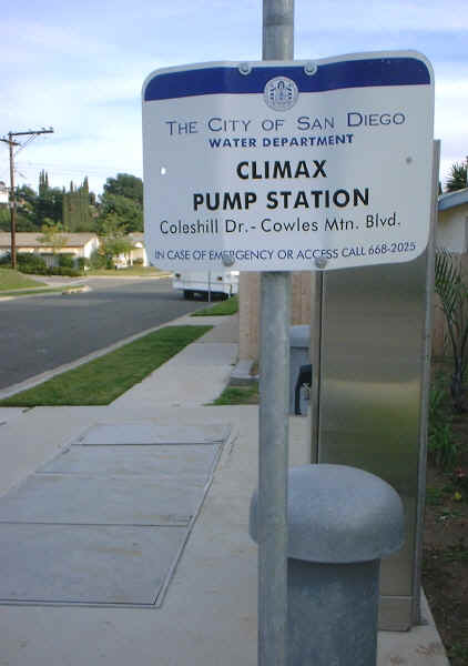 Climax Pump Station, just down the street. Thanks to search engines, one wonders who might end up peering, bleary-eyed, at a photo of a water pump station. Still, those erect structures with the hemispherical tops might have been better designed.