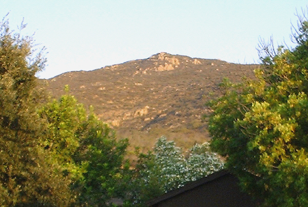 Cowles Mountain summit, the way it looks almost every morning from our front window.